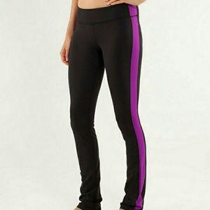 LULULEMON Side Angle pants Black / Tender Violet